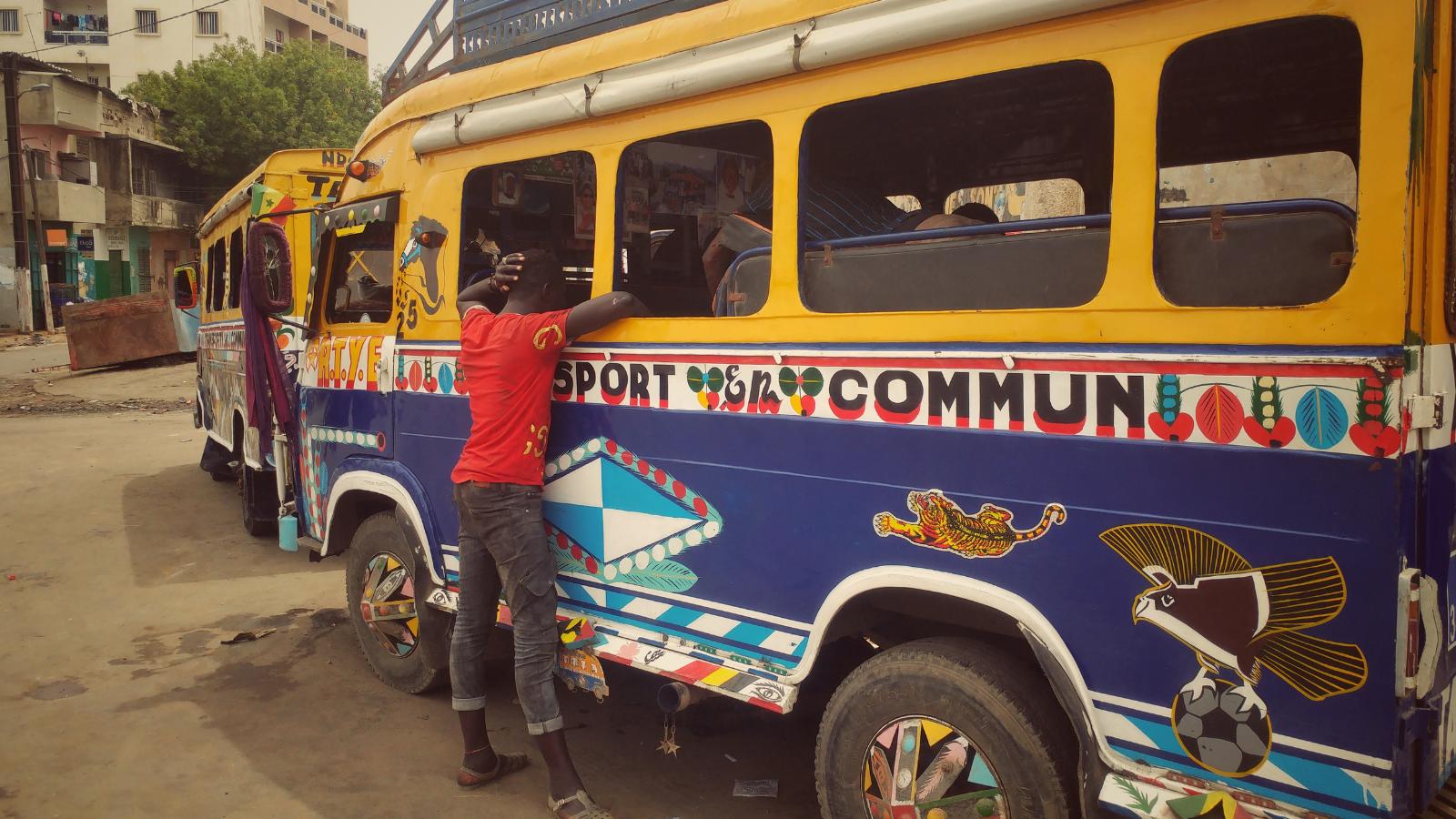 Traffic bus in Africa