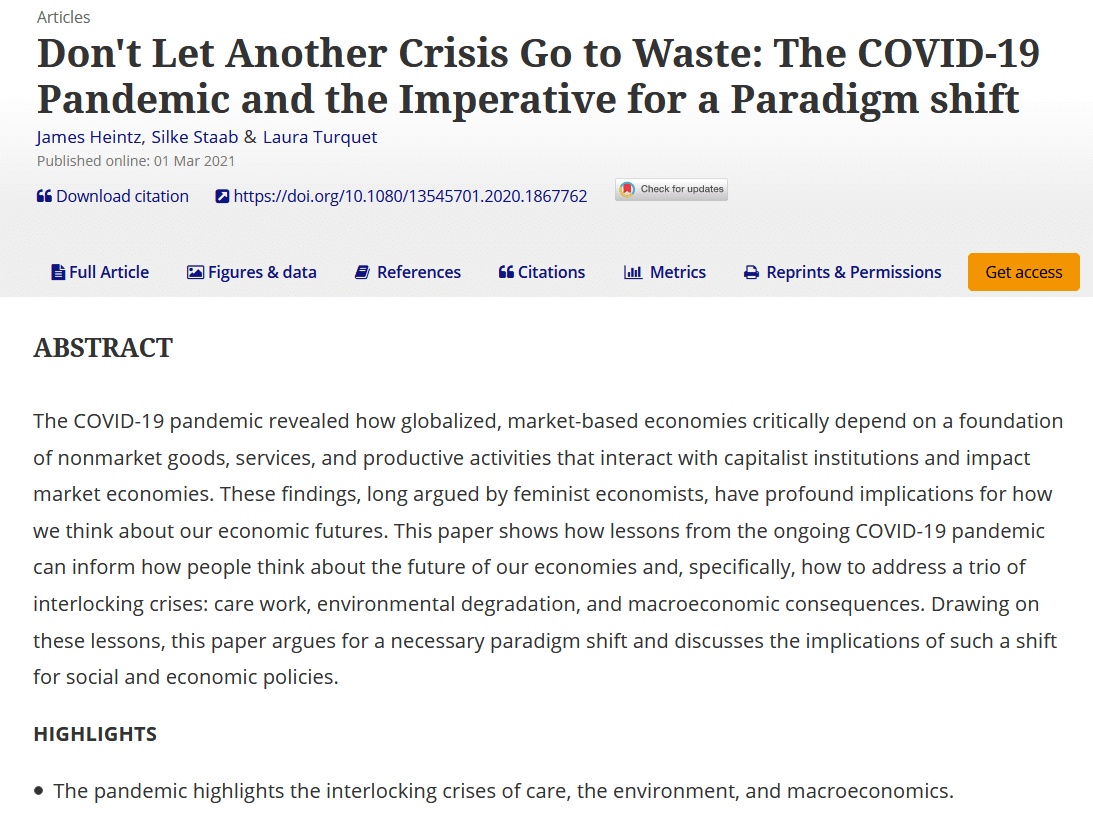Don't Let Another Crisis Go to Waste
