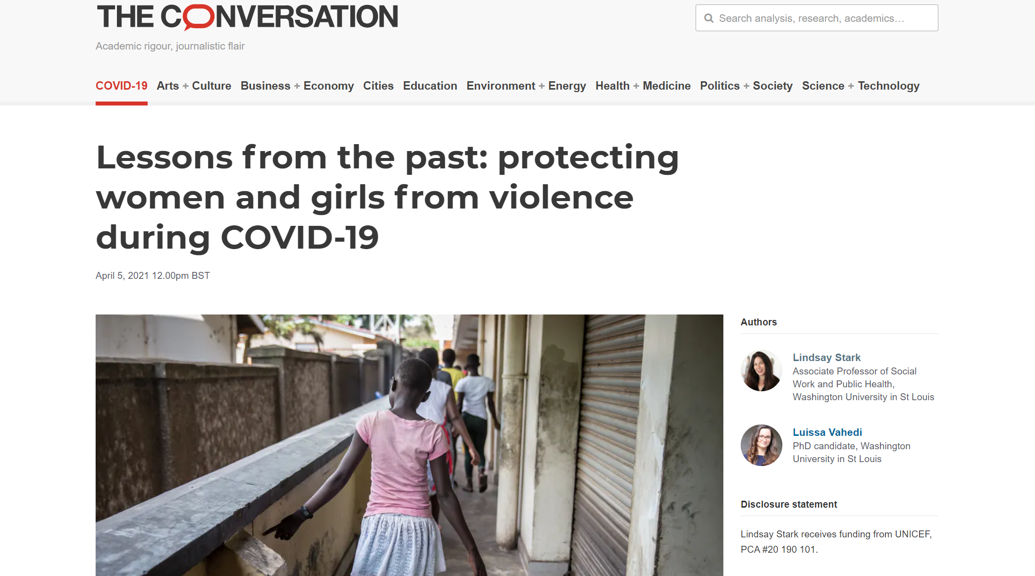 Lessons from the past protecting women and girls from violence