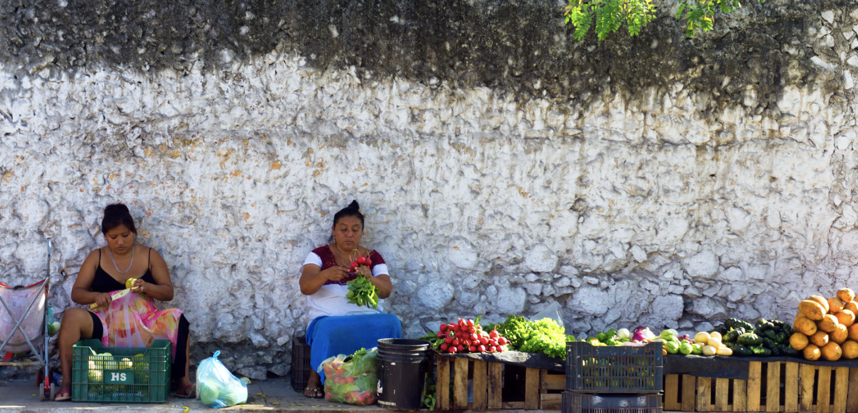 Women in Mexico at the market