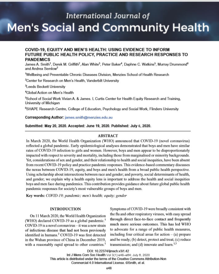 COVID19 Equity Mens Health