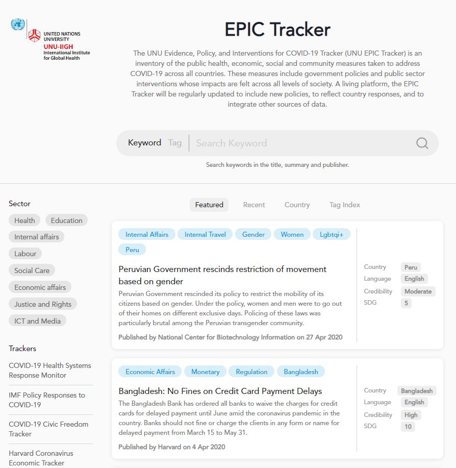 Epic tracker