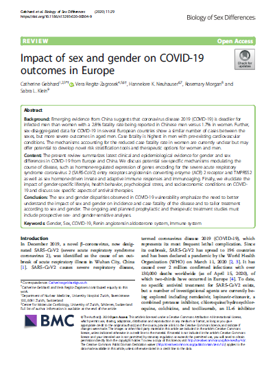 Impact of sex and gender on COVID-19
