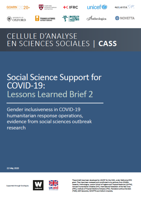 Social science support for COVID-19- gender inclusiveness in COVID-19 response operations