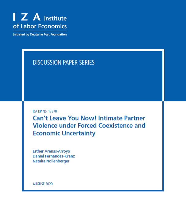 Can't Leave You Now! Intimate Partner Violence under Forced Coexistence and Economic Uncertainty