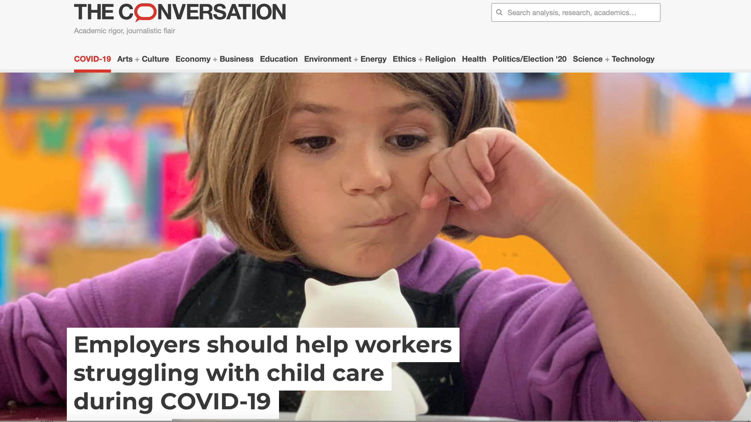 Employers should help workers struggling with child care during COVID-19