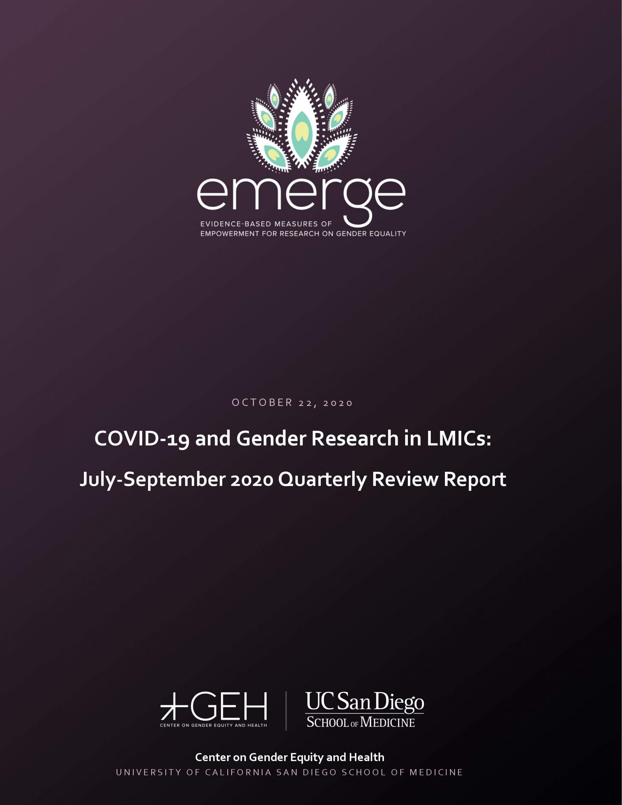 COVID-19 and Gender Research in LMICs