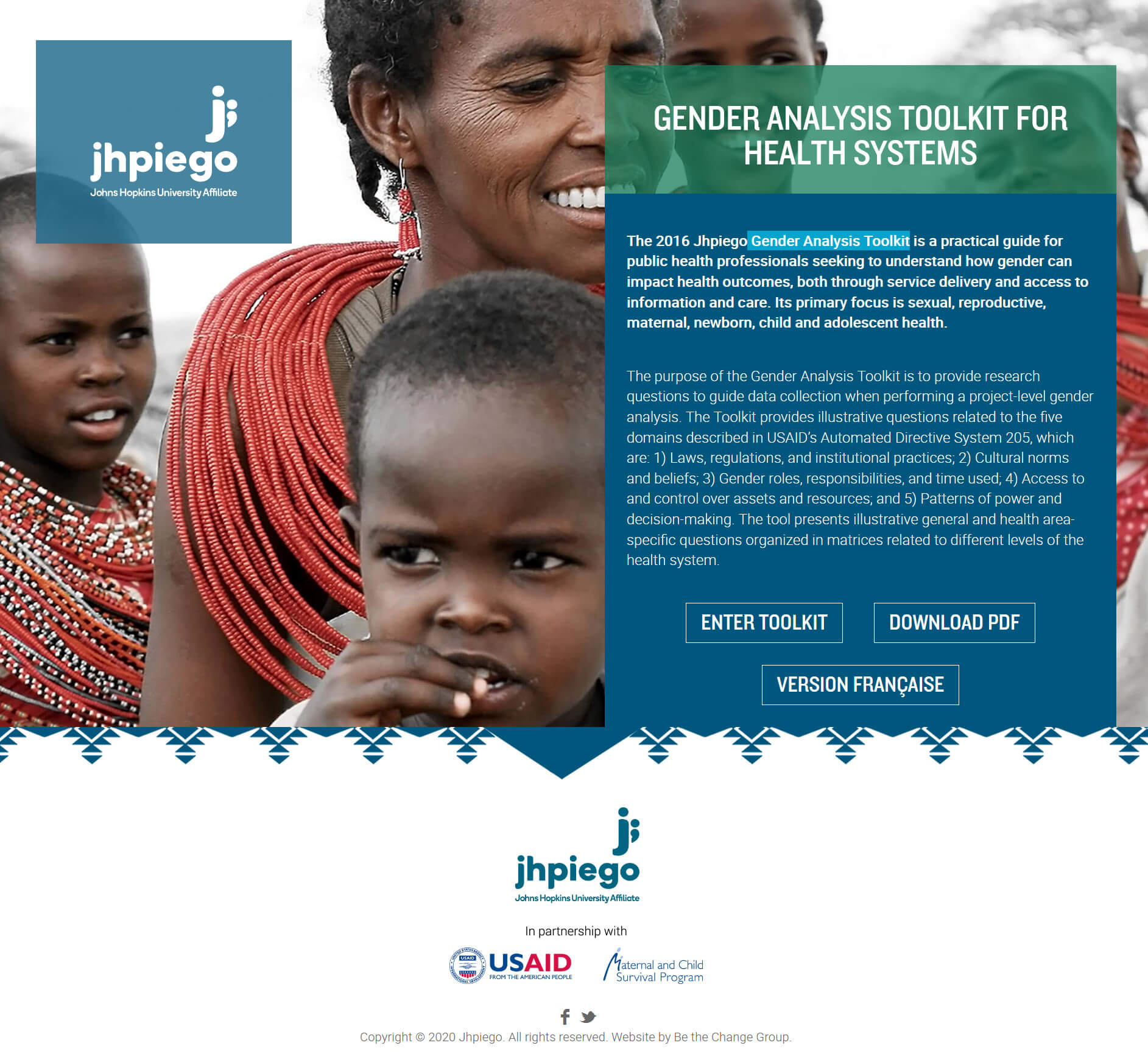 Gender analysis toolkit for health systems