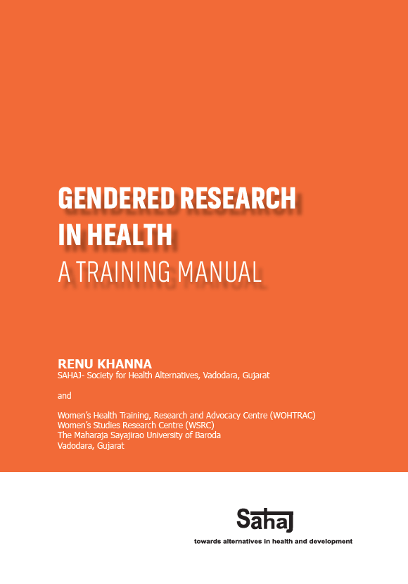 Gendered research in health: A training manual