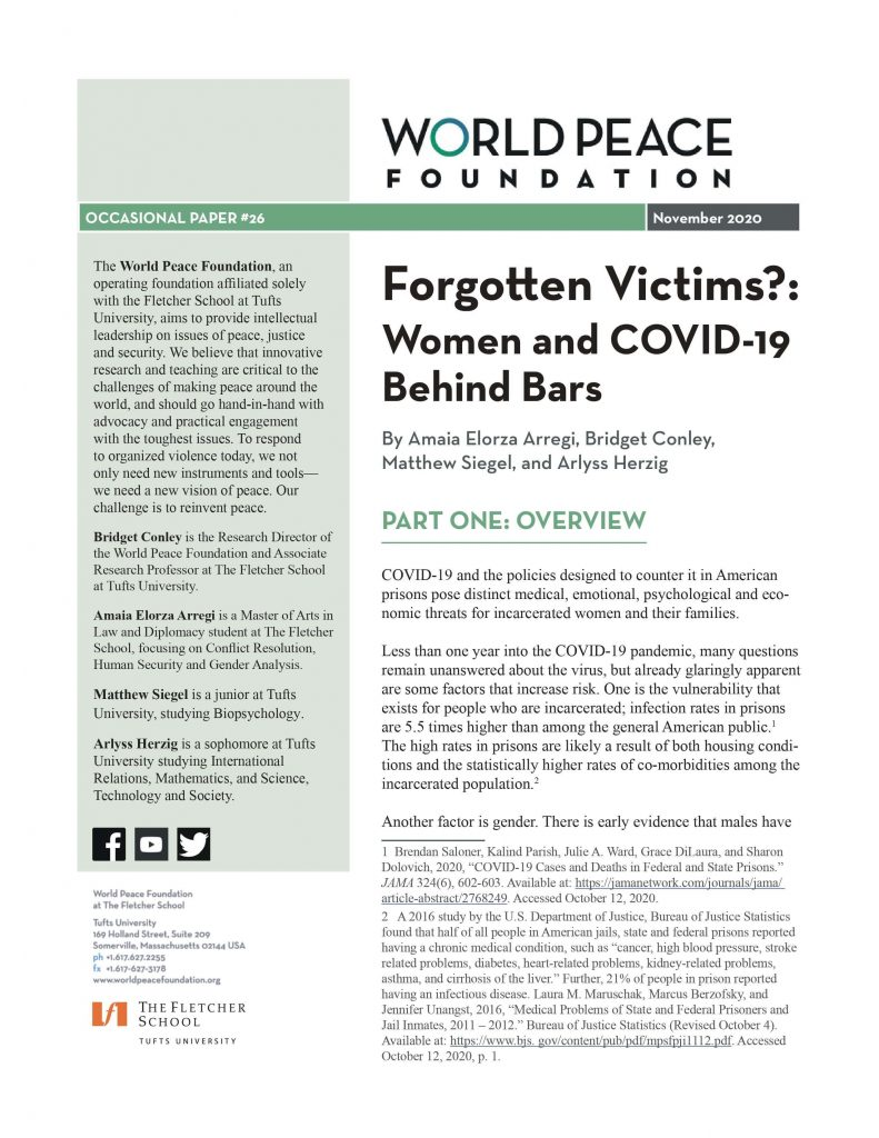 Forgotten victims?: Women and COVID-19 behind bars