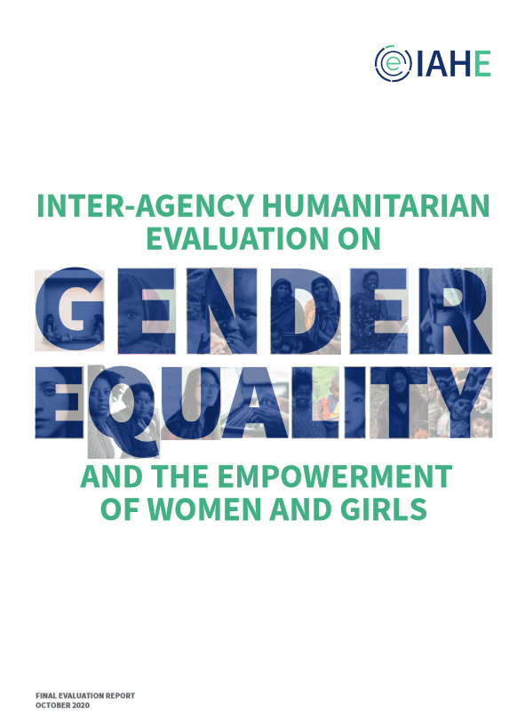 Inter-Agency Humanitarian Evaluation on gender equality and the empowerment of women and girls