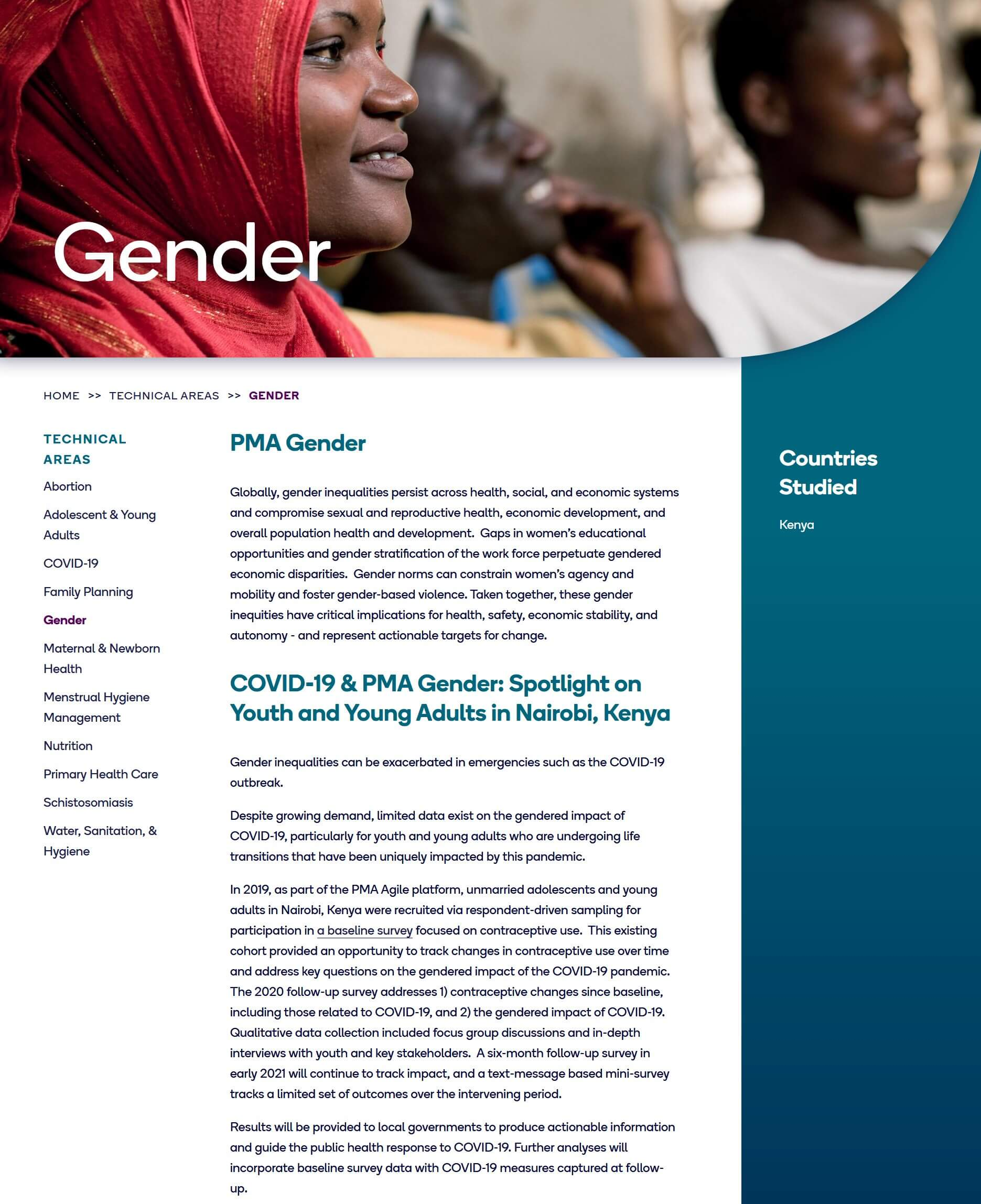 Spotlight on Youth and Young Adults in Nairobi, Kenya