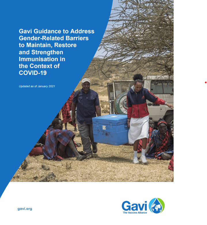 Gavi guidance to address gender-related barriers to maintain, restore and strengthen immunisation in the context of COVID-19