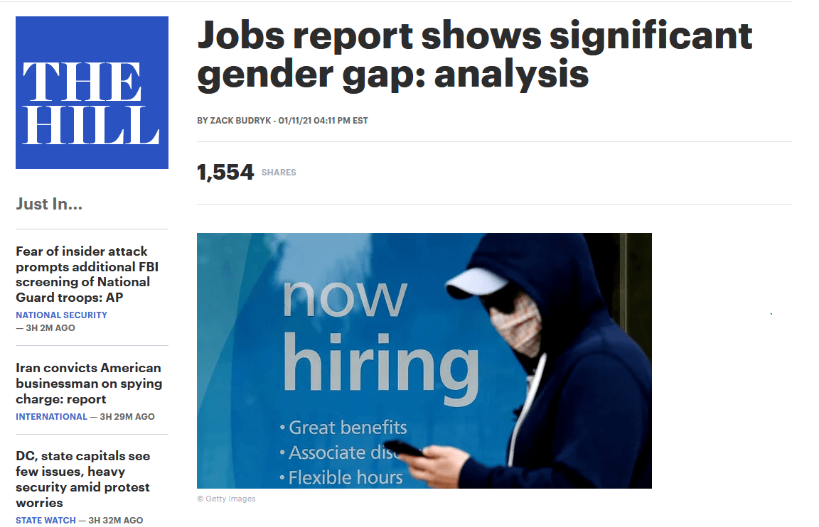 Jobs report shows significant gender gap