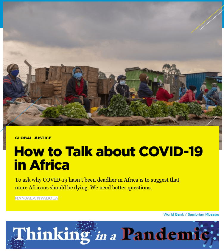 How to Talk about COVID-19 in Africa