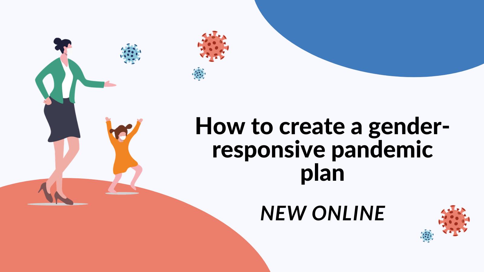 Gender-responsive pandemic plan