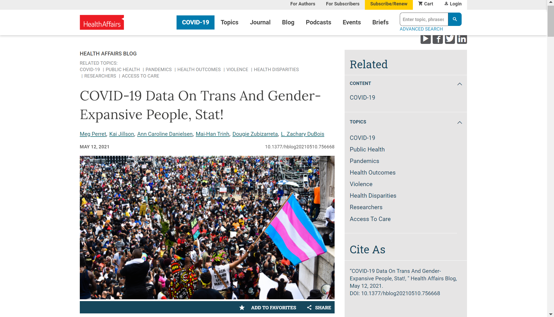 COVID-19 Data On Trans And Gender-Expansive People, Stat!