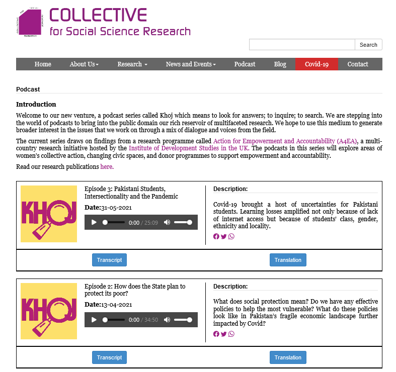 Collective for Social Science Research