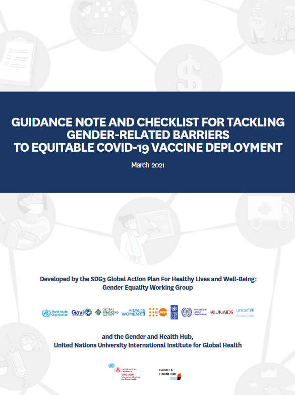 Guidance note and checklist for tackling gender-related barriers to equitable COVID-19 vaccine deployment