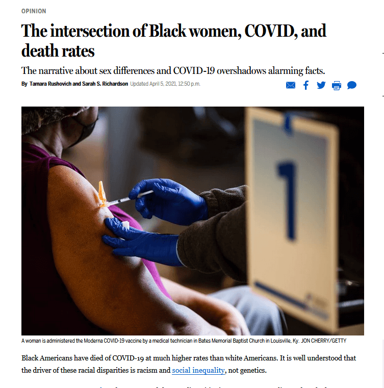 The intersection of Black women, COVID, and death rates