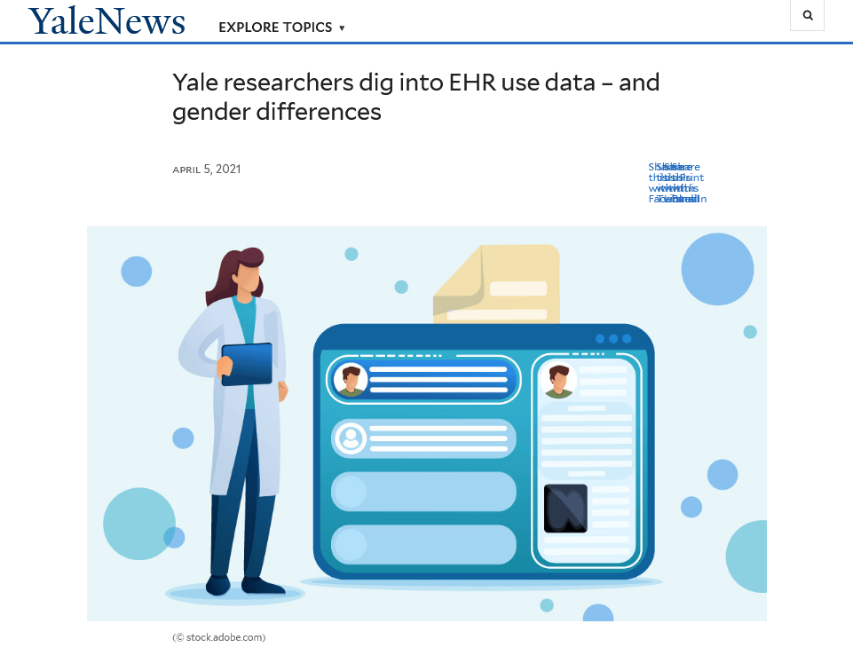 Yale researchers dig into EHR use data – and gender differences
