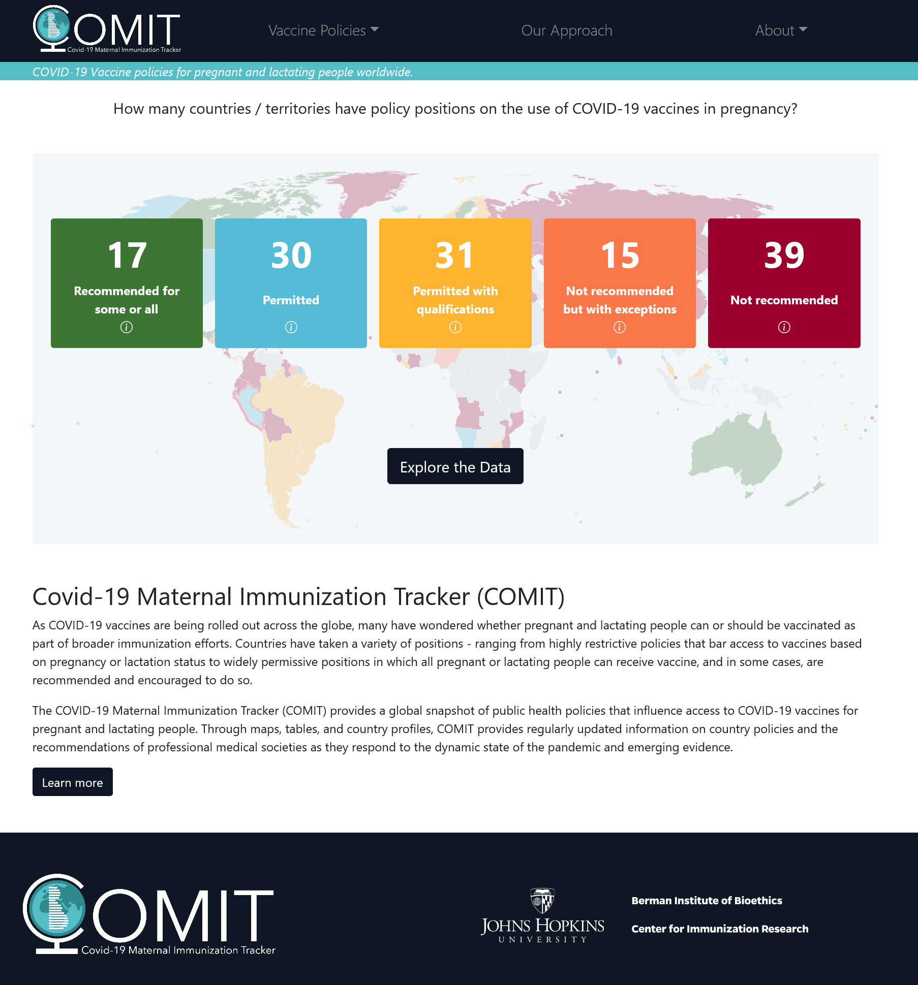 Covid-19 Maternal Immunization Tracker