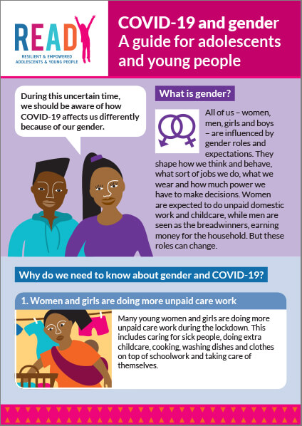 COVID-19 and gender: A guide for adolesecents and young people